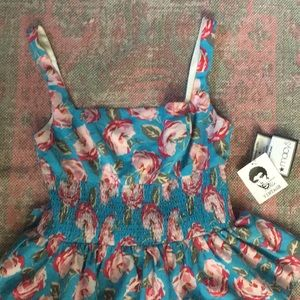 NWT Betsy Johnson Vintage floral tiered dress sz10